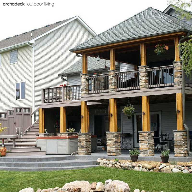 A Full Or Partial Deck Roof Provides Weather Protection Creating A Stylish Open Porch Effect Patio Deck Designs Covered Deck Designs Decks And Porches