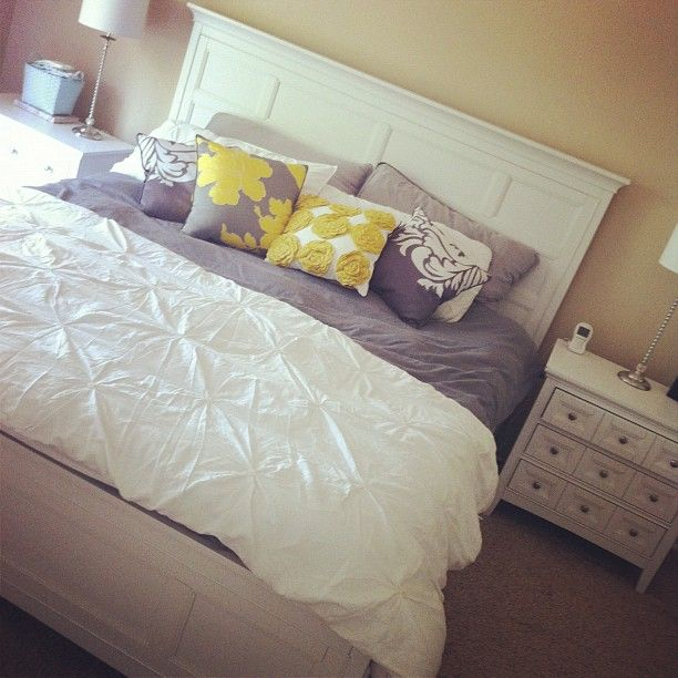 Yellow Gray And White Bedrooms: Photo By Littlemissmomma • Instagram Love This Gray And