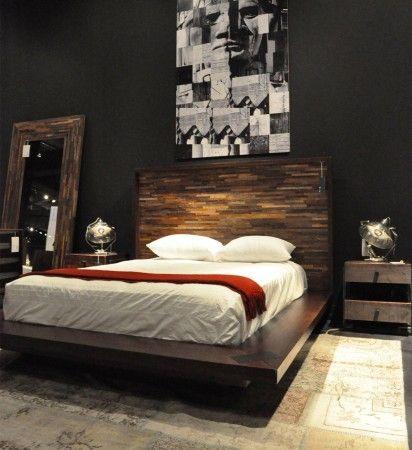 Devon Reclaimed Wood Queen Platform Bed Frame Bedroom Furniture