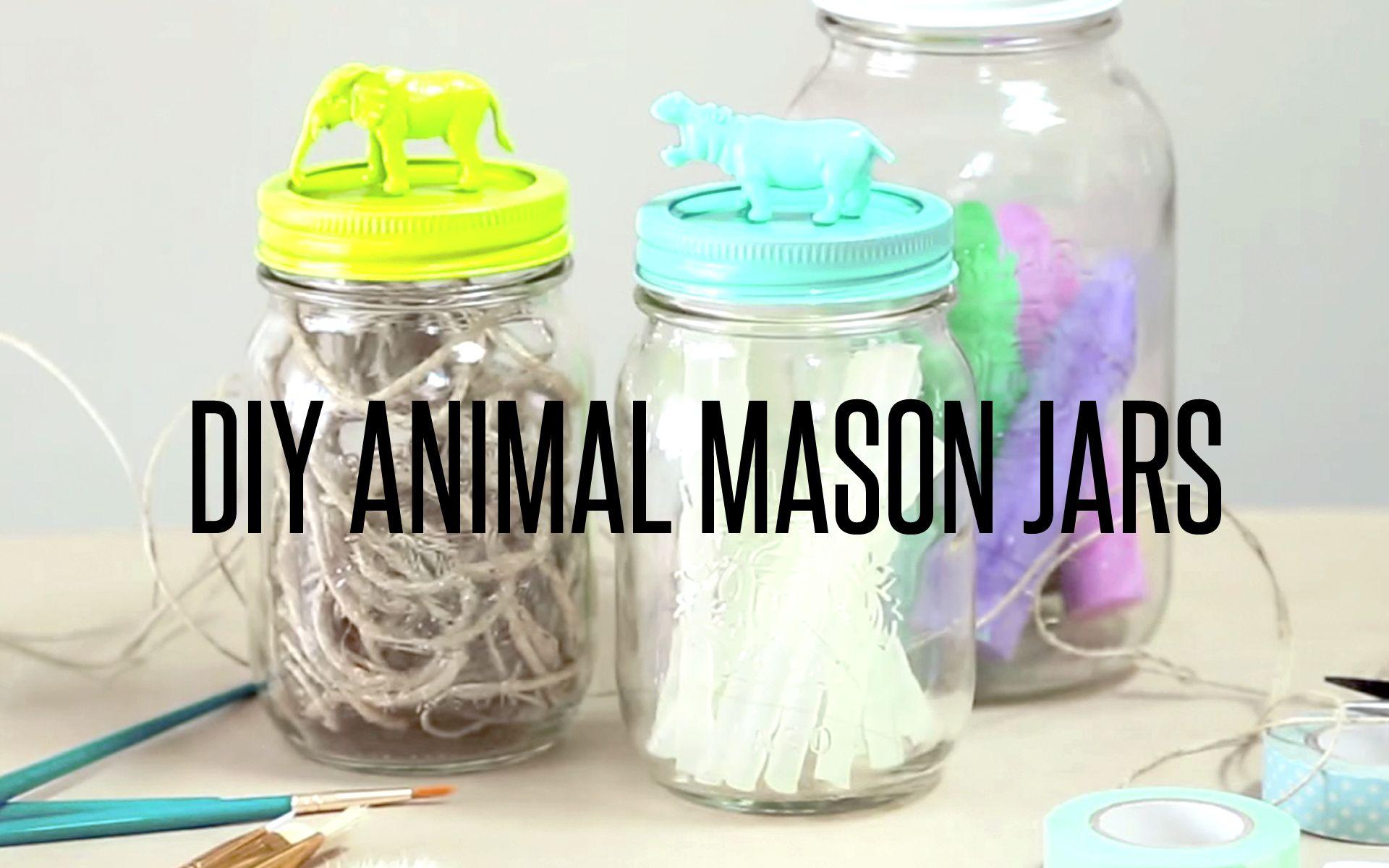 Mason Jar Room Decor Diy Animal Lid Mason Jars  Interior Decor  Tsg  Pinterest