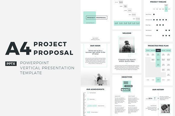 A4 Project Proposal Powerpoint Pinterest Project Proposal