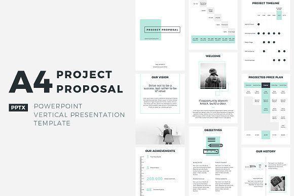A4 Project Proposal PowerPoint Pinterest Project proposal - powerpoint proposal template