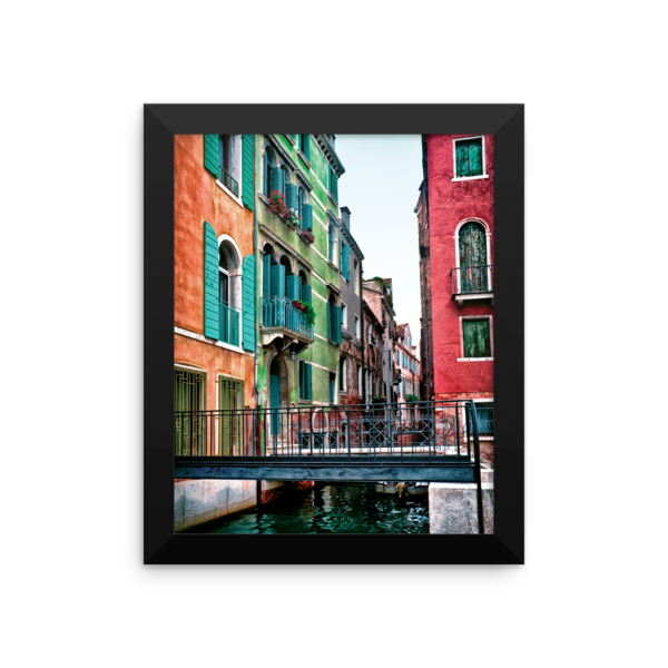 Venice Italy Framed Print - Colorful Buildings | Framed Prints ...