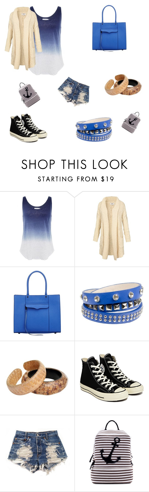 """""""School mall shopping"""" by marleybrasfield22 ❤ liked on Polyvore featuring Velvet by Graham & Spencer, Fat Face, Rebecca Minkoff, Lipsy, Converse, Levi's and Dasein"""