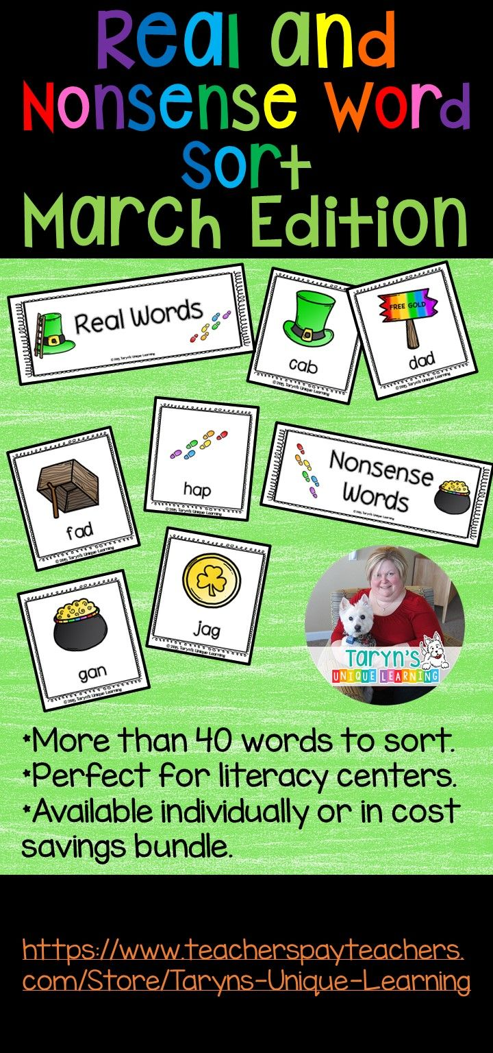 Nonsense Word and Real Word Sort- March Edition
