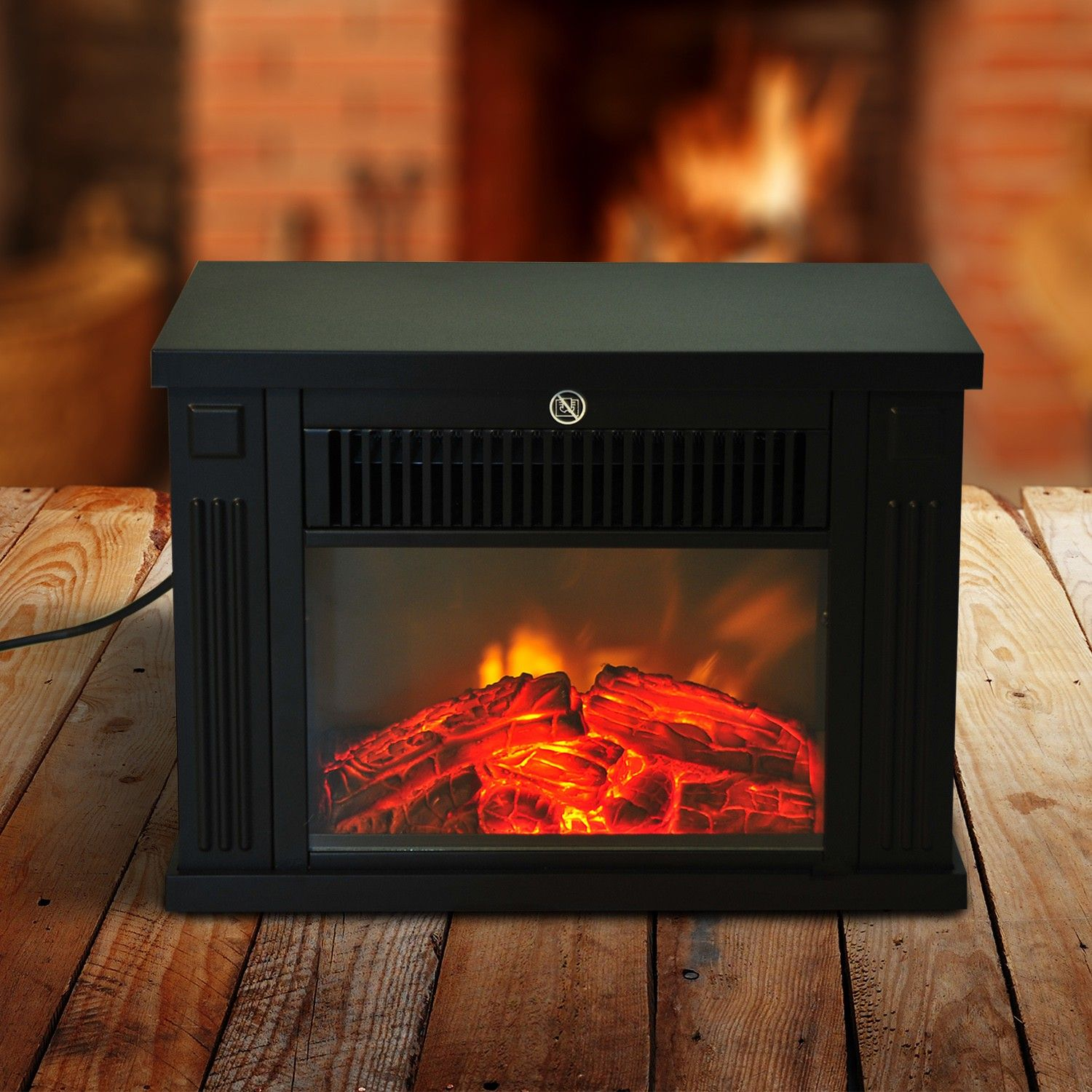 Homcom 14 1000w Free Standing Electric Fireplace Black Fireplaces Accessories Aosom Canada Portable Electric Fireplace Electric Fireplace Free Standing Electric Fireplace