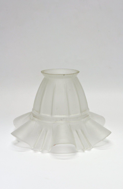 Oud Glazen Lampekapje.Klein Matglazen Rokkapje Uit Ca 1930 Matglas