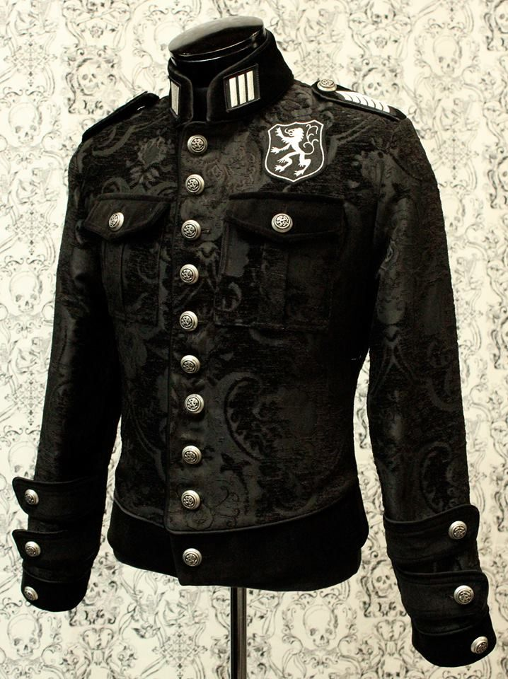 royal marine jacket black tapestry with black velvet men 39 s clothing pinterest. Black Bedroom Furniture Sets. Home Design Ideas