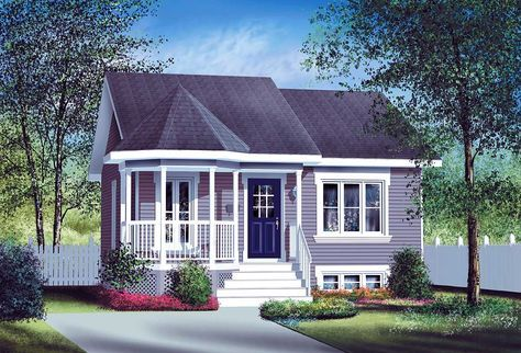 Plan 80004PM Small Country Home Plan is part of Cute Country home - House plan number 80004PM  a beautiful 2 bedroom, 1 bathroom home