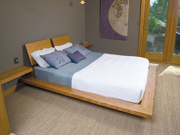 Learn how to build a unique custom platform bed with a hidden cantilever frame. & How to Build a Custom Platform Bed Frame With Cantilever Supports ...