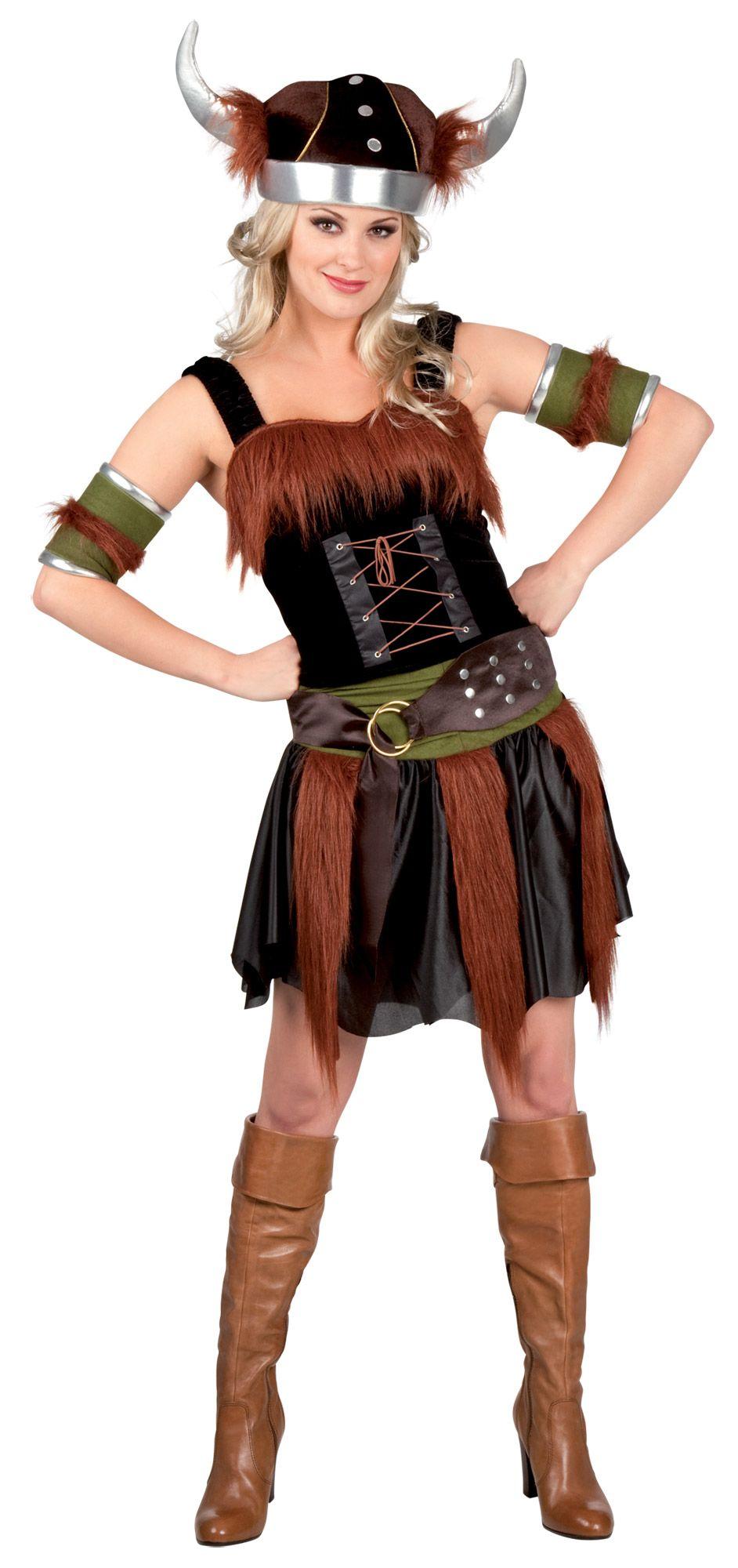Da Donna con Viking Lady Costume Vichinghi Vestito Adulto