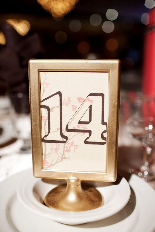 Gold Tolsby frame table numbers | Wedding | Pinterest | Framed table ...