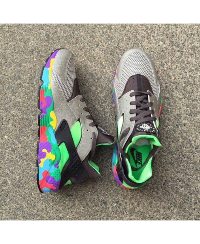 online store 0d6da 4e266 Nike Air Huarache Custom Wolf Grey Green Trainer Different from Nike other  styles of shoes, very fine and very good.