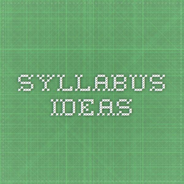 syllabus ideas