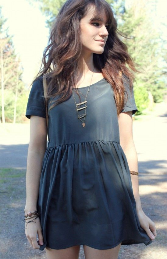 Simple dress and fun jewelry!  The Basics #uoonyou @Urban Outfitters