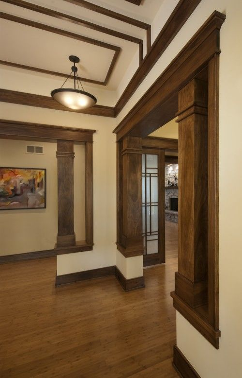 Trim And Columns Stained   Adds Time And History Like Make Up To The House