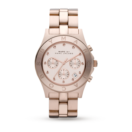 Ladies Watches - Marc by Marc Jacobs Blade Rose Gold Plated Ladies Watch - MBM3102
