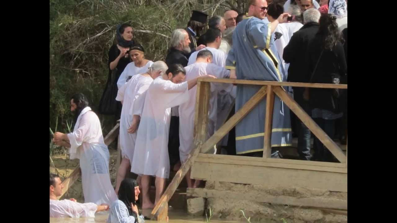 Baptism in the Jordan River - in the footsteps of Scripture. http://www.customisraeltours.com