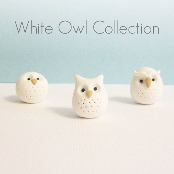 Polymer Clay Animal Owl Figurine Geekery Pocket by MeganSiedzik