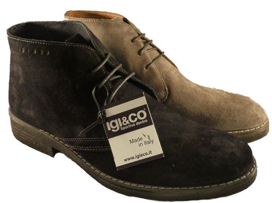 Italian desert boots for men, made in Italy by Igi&Co - Online shoe store