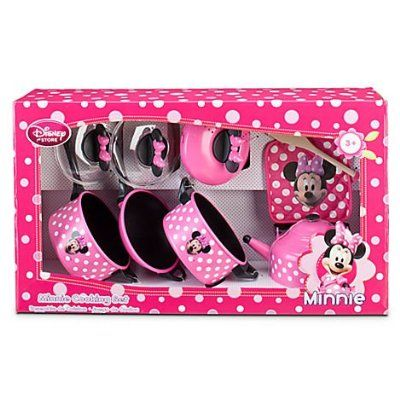 NEW Disney Store Minnie Mouse Cooking Set Play Kitchen Childs ...