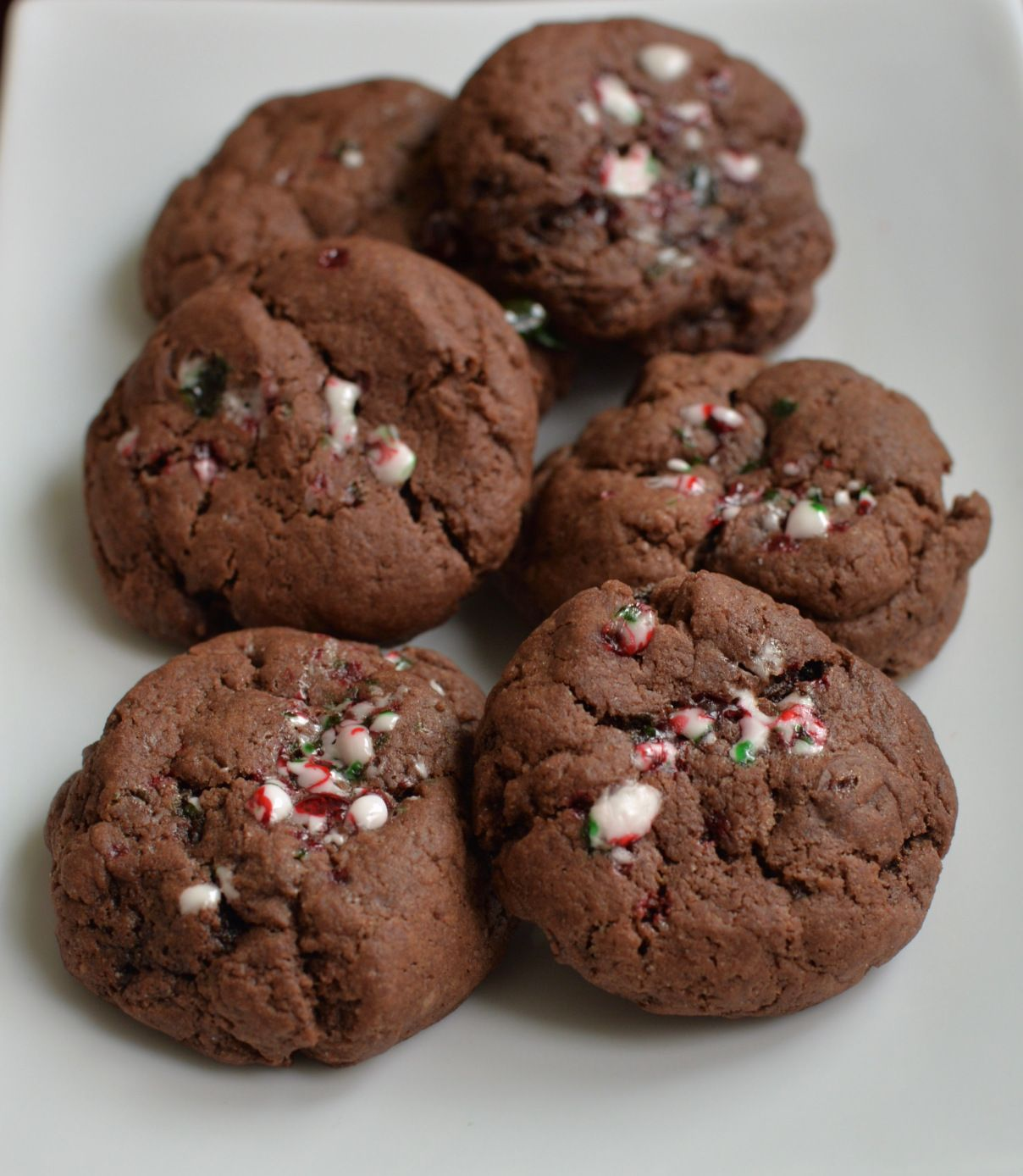 Candy Cane Fudge Cookies