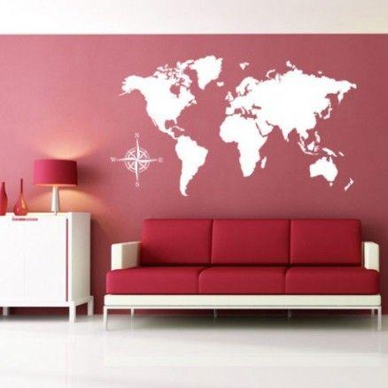 Sticker Carte du monde