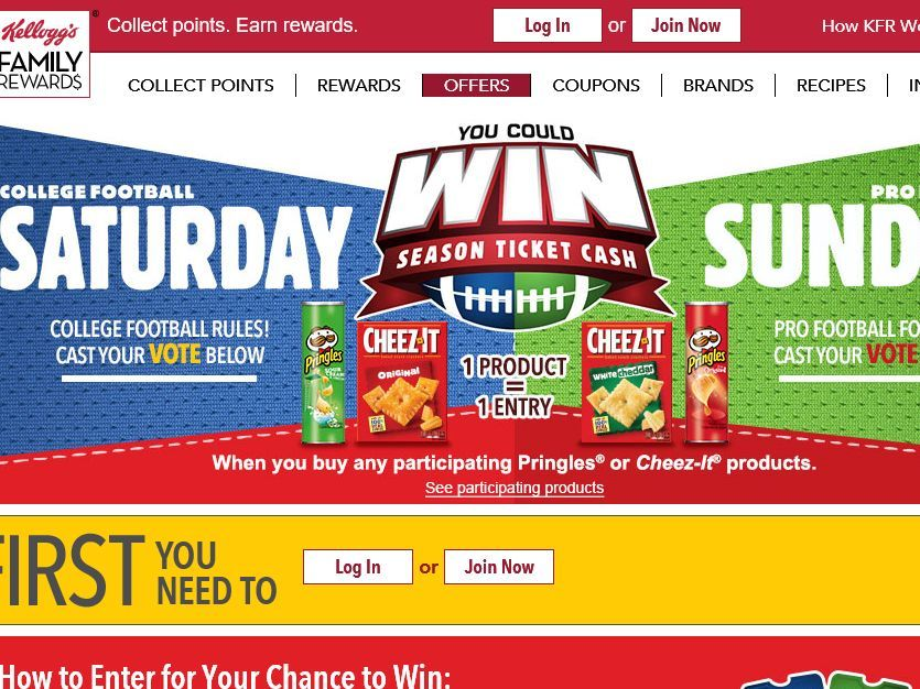 Enter The Kellogg's Saturday vs. Sunday Sweepstakes for a