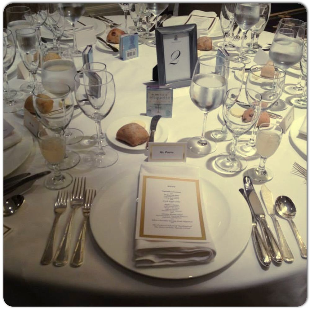 Place Setting For 7 Course Meal