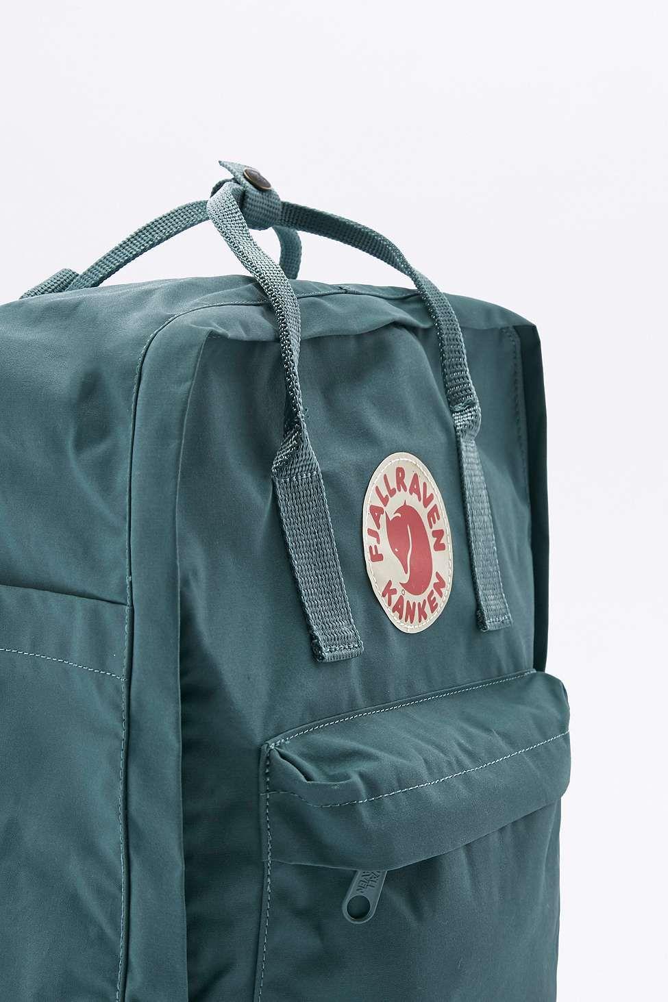 Fjallraven Kanken Classic Frost Green Backpack Fjallraven Kanken Kanken Backpack Backpack Fjallraven