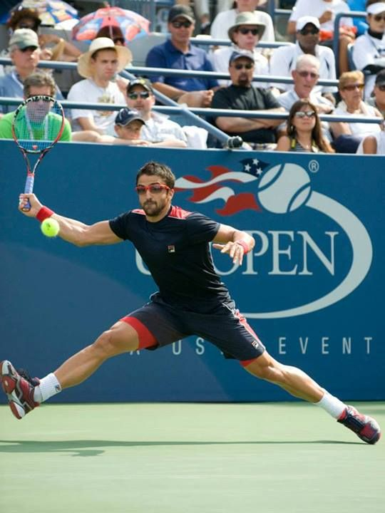 Janko Tipsarevic - US Open 2013. Got to see him play close up.
