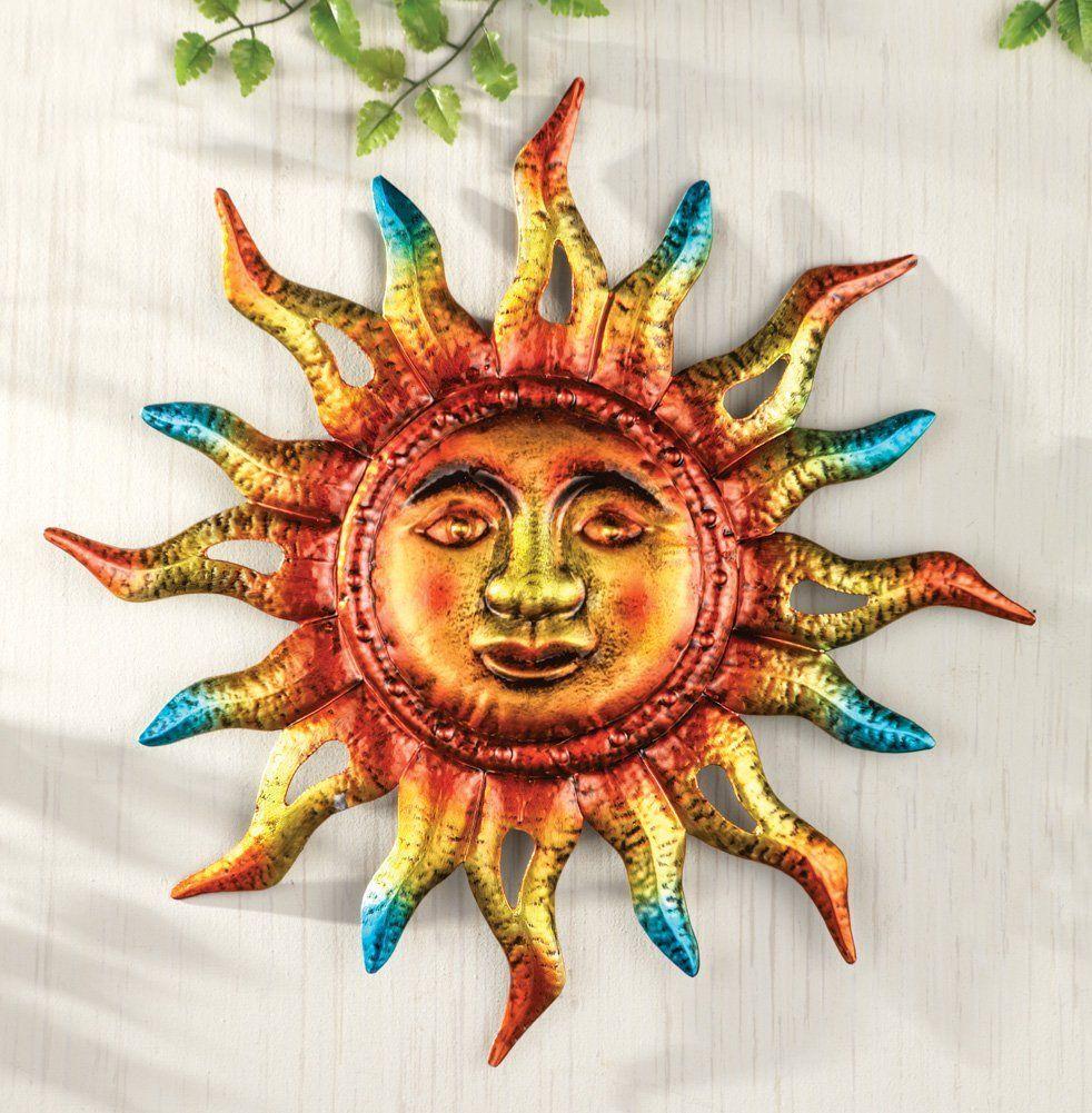 Amazon Com Metallic Sun Southwestern Patio Porch Hanging Sign