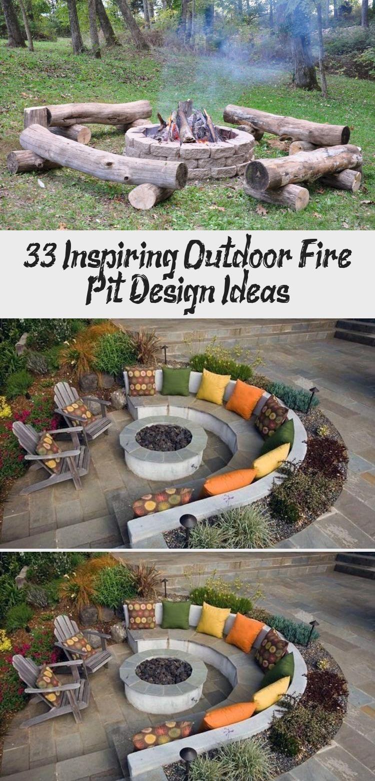 Photo of 33 Inspiring Outdoor Fire Pit Design Ideas – Matchness.com #GartenIdeen2020