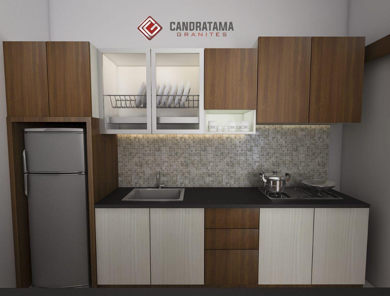 Desain Dapur Model Lurus Cek Bahan Bangunan