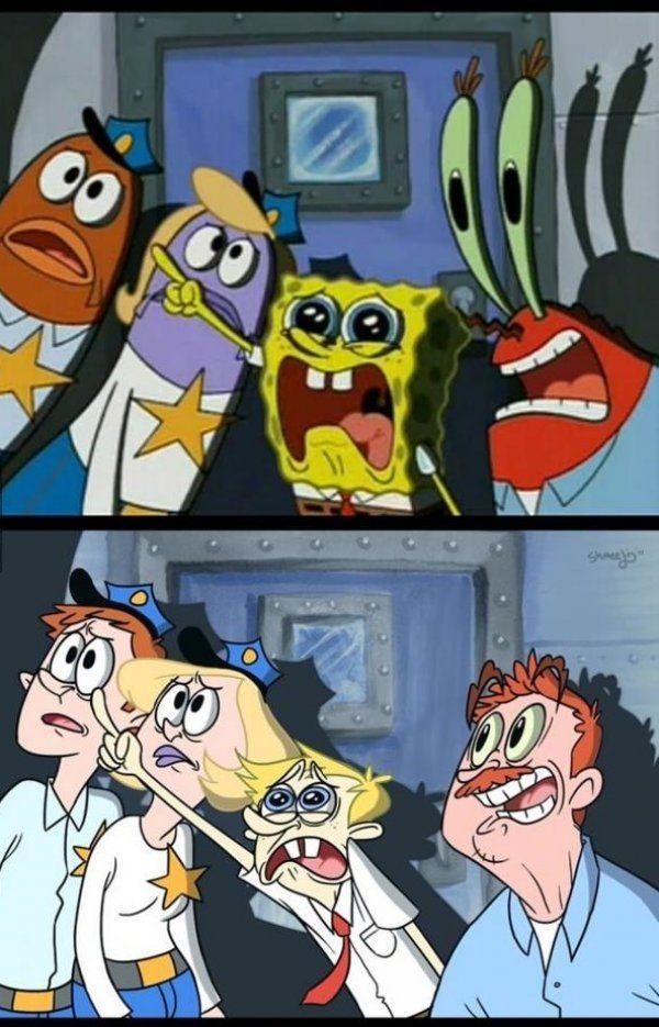 Spongebob And Friends As Humans