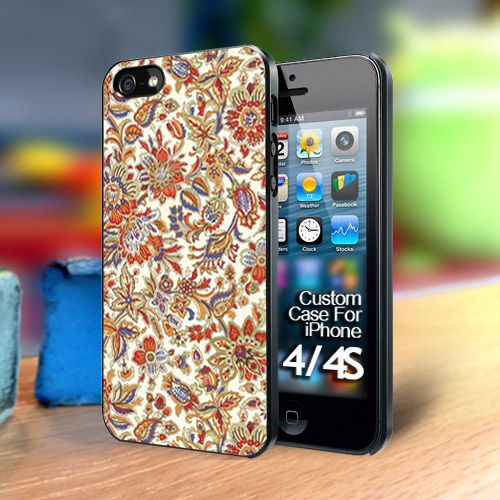 Batik Flowers Iphone 4 case | TheYudiCase - Accessories on ArtFire