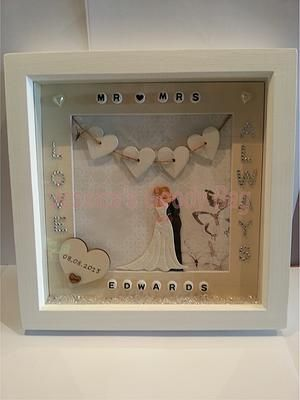 Framed designs jessicas goody bag box frame designed framed designs jessicas goody bag box frame designed specifically for a personalised wedding gift negle Choice Image