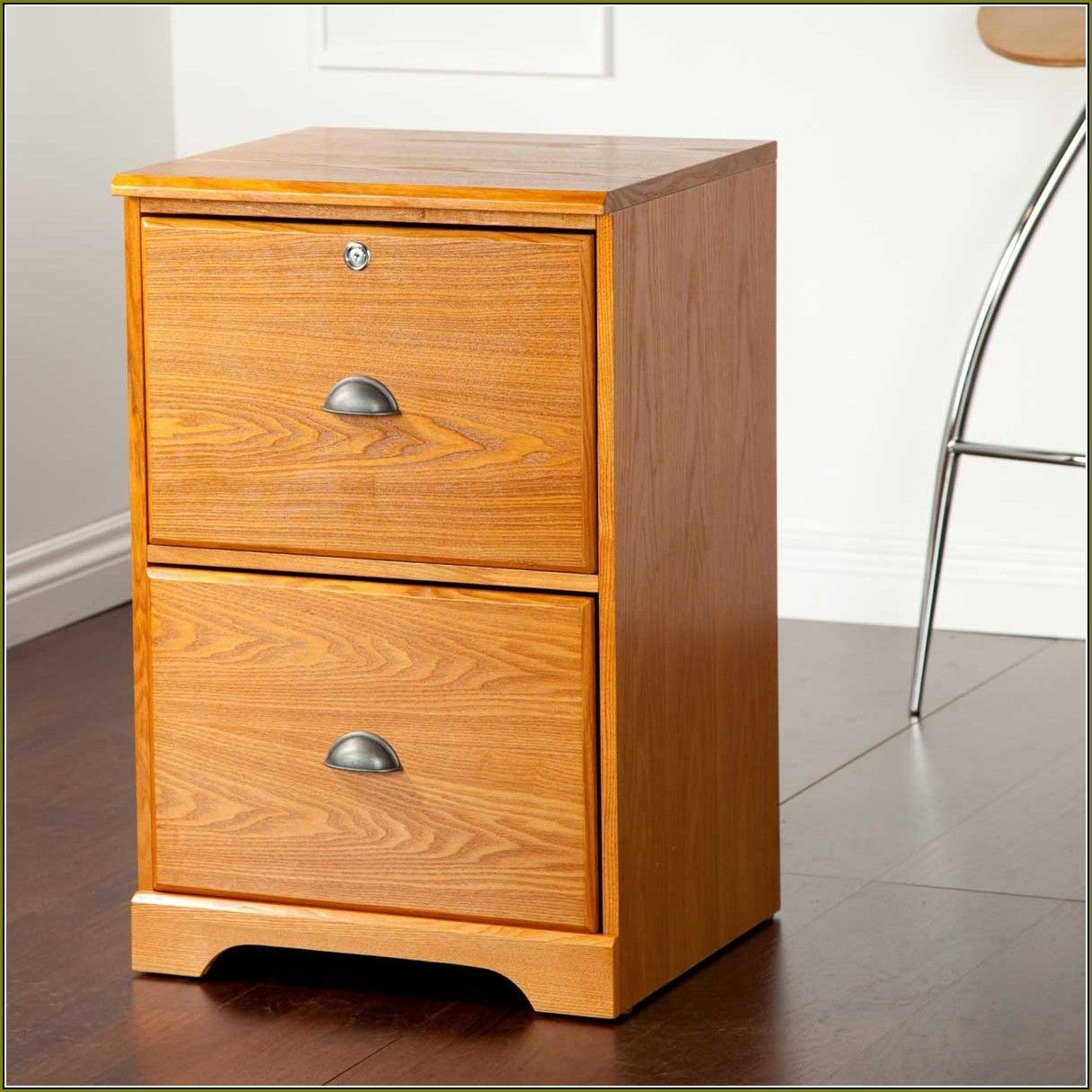 Solid Wood Filing Cabinet 2 Drawer
