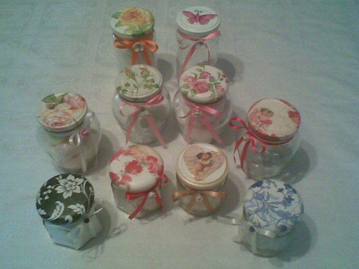 Tapas de frascos decoradas en decoupage frascos - Diy frascos decorados ...