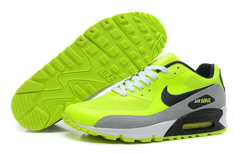 air max 90-87 noir blanc vert