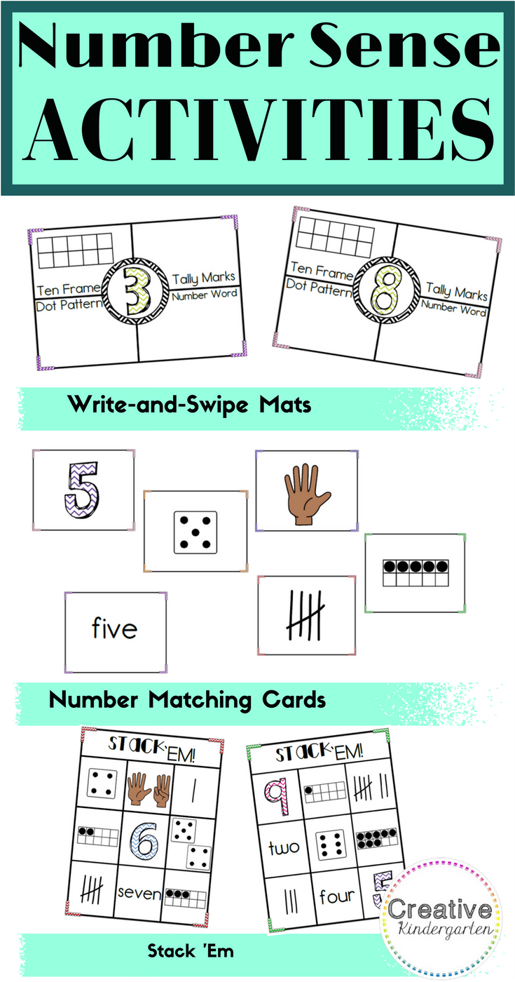 3 Kindergarten Number Activities to Practice Number Sense ...