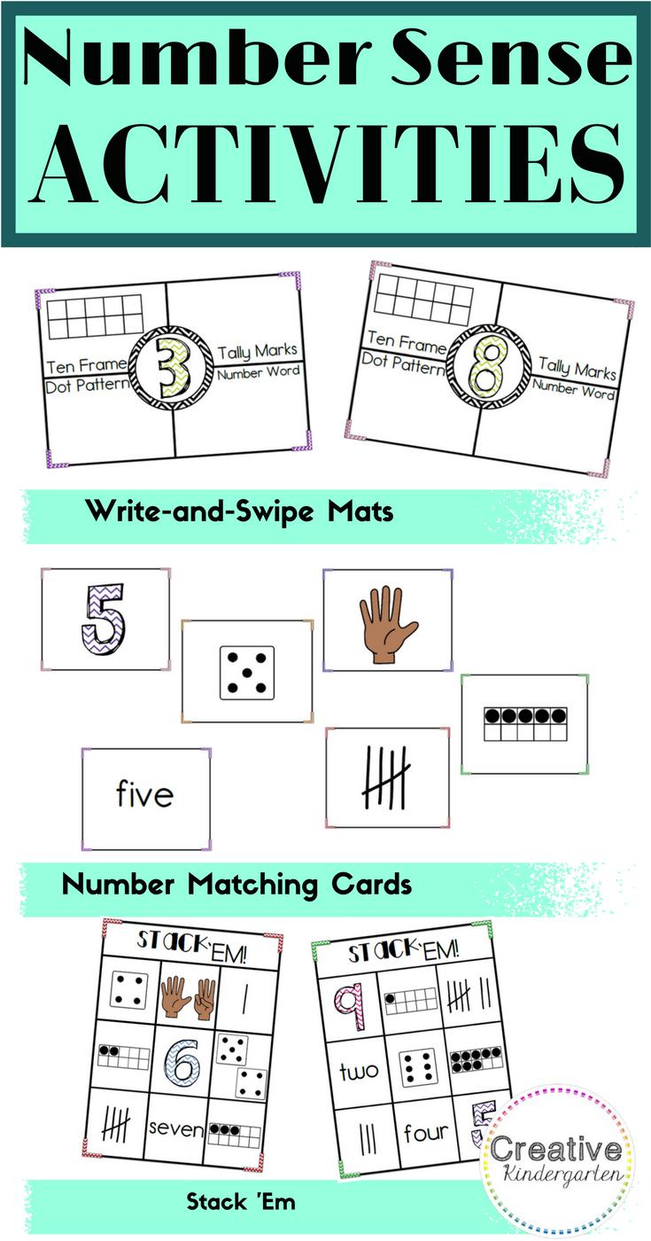 3 Kindergarten Number Activities to Practice Number Sense ...