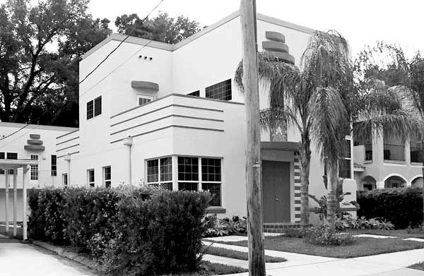 Art deco house plans