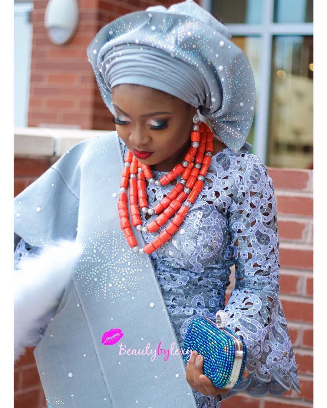 Traditional nigerian wedding dresses  Congrats Kikekares    beautybylexy  NOW in Houston TEXAS