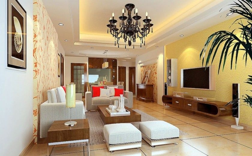 Decorating Designs For Living Rooms Cool Living Room Interior Decorating Design With Charming Soft Yellow Design Inspiration