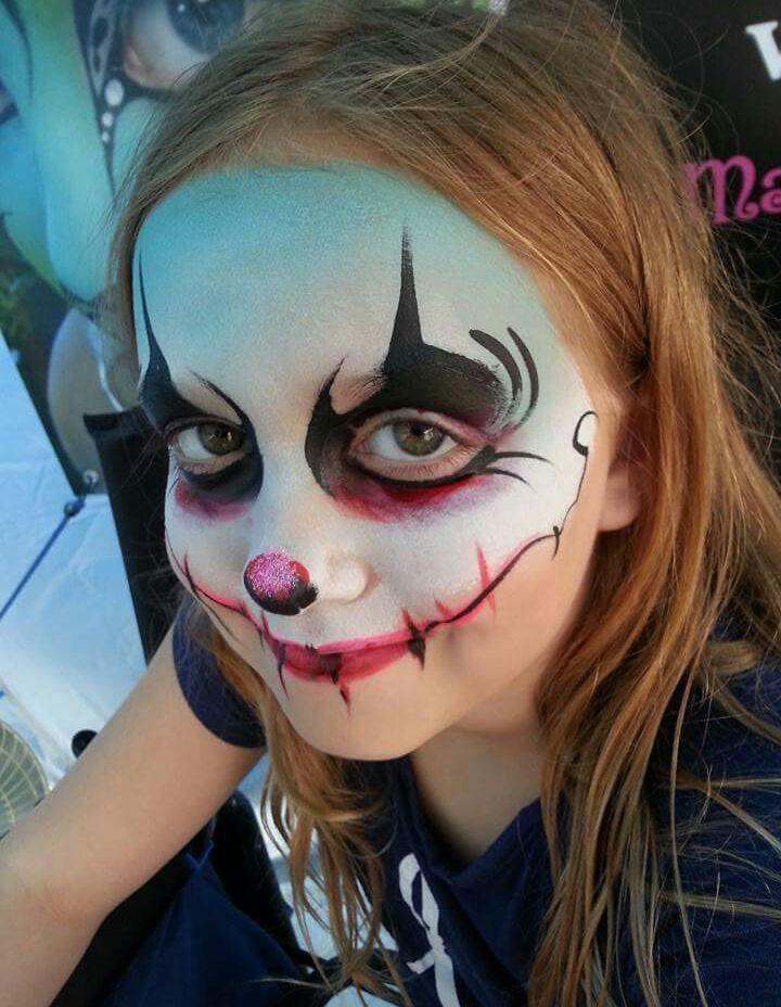 halloween clown Gezichten Pinterest Halloween clown, Face and - face painting halloween ideas