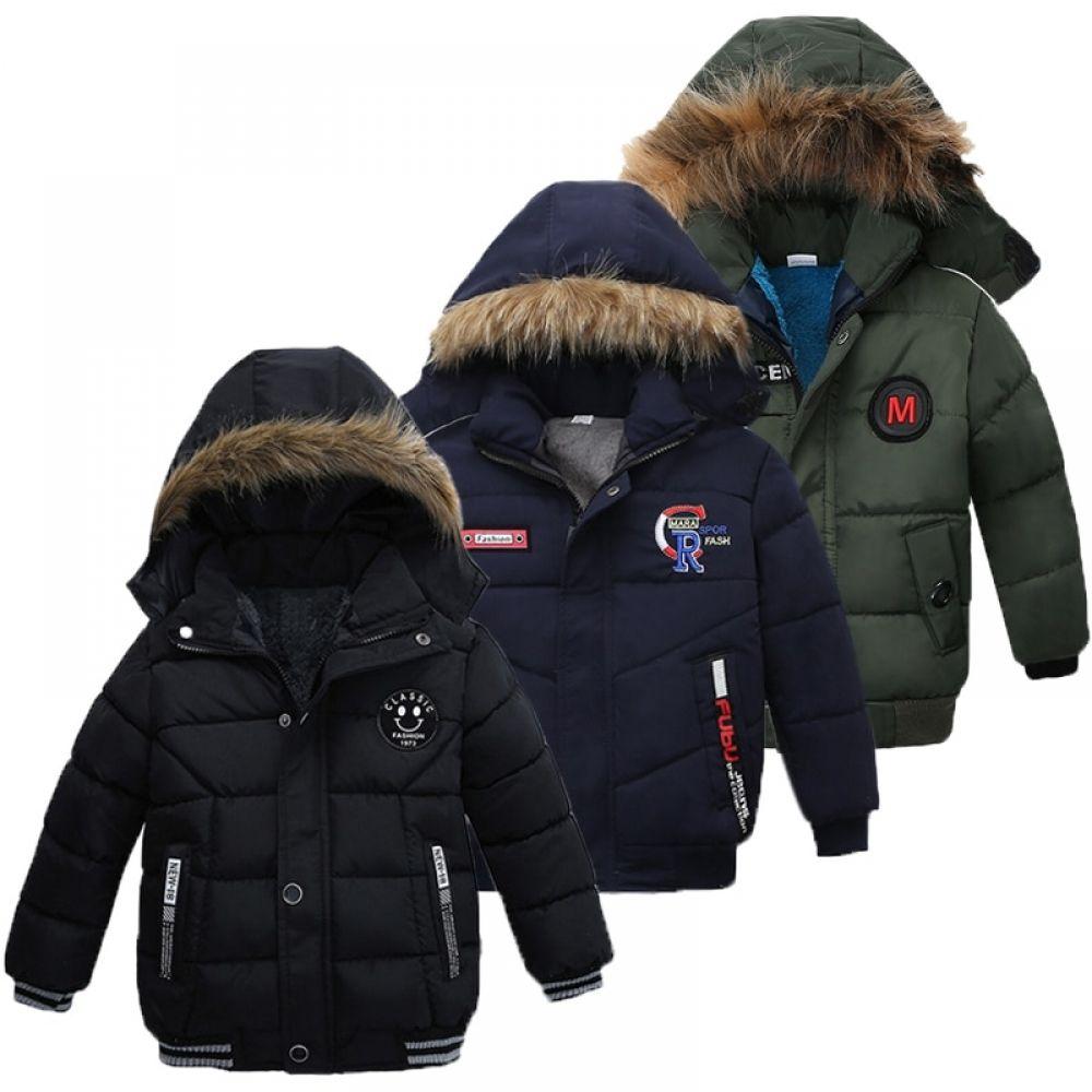 Boys Winter Jacket For Kids Hooded Warm Outerwear Coat Baby Boy Jackets Boys Winter Jackets Warm Outerwear [ 1000 x 1000 Pixel ]