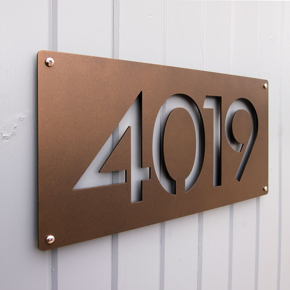 Custom Modernist House Numbers In Powder Coated Aluminum House Numbers Modern House Number House Number Plaque