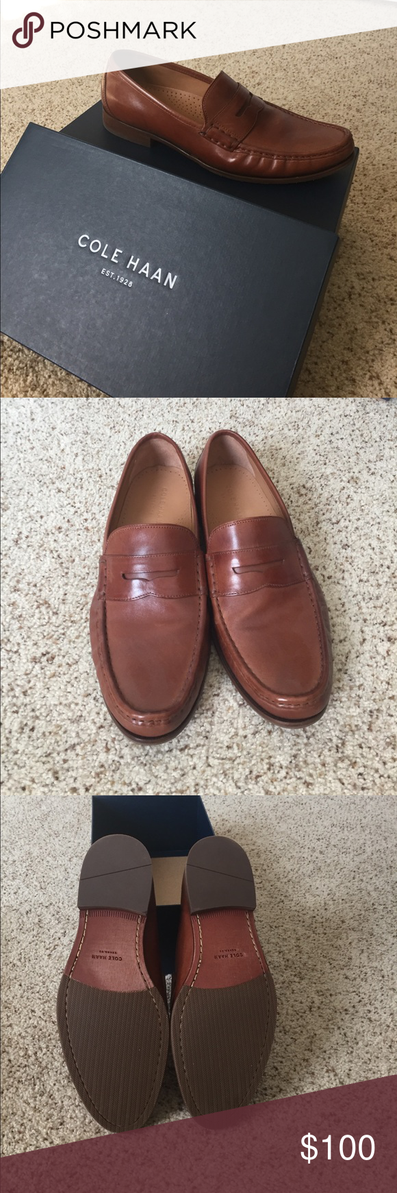 998a37989b2 NIB Cole Haan Aiden Grand Penny II Cole Haan Aiden Grand Penny II Brand new  in box never been worn size  11M color  British tan Cole Haan Shoes Loafers  ...