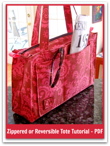 Sweetbriar's Tote - PDF Sewing Pattern | How to Insert a Zip Into Any Bag Lining